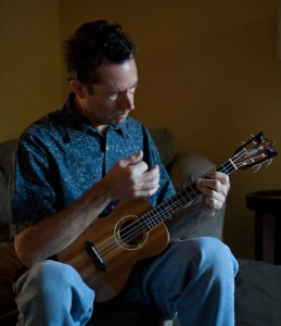 NC luthier Jay Lichty playing one of his handmade ukuleles