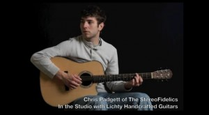 Chris Padgett in the studio with Lichty Guitars