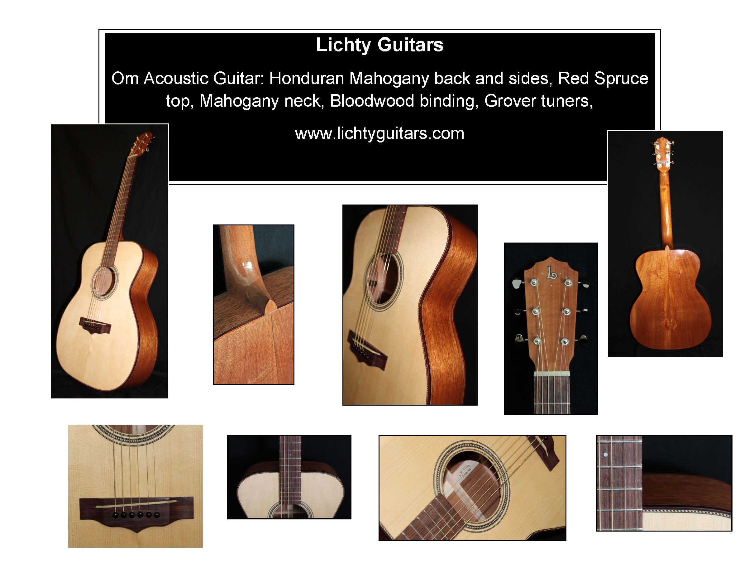 Handmade Acoustic Guitar Auction, Lichty Guitars