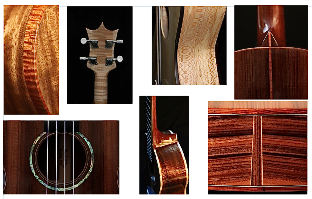 Ukuleles Crafted from a Variety of Tonewood Species