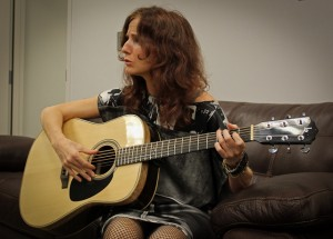 Patty Griffin test-driving a Lichty Guitar