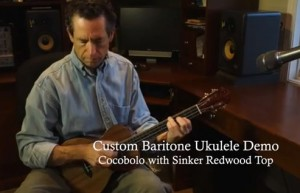 Lichty Ukulele Demo - Cocobolo Baritone with Sinker Redwood top