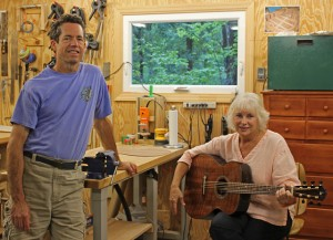 Jeanette Chapman with her Custom Indian Rosewood OM Guitar, Lichty Guitars-7