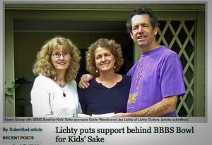 Lichty Guitars Giving Back Program - Big Brothers Big Sisters