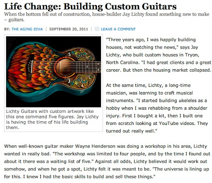 Work Goes Strong Lichty Guitar Article
