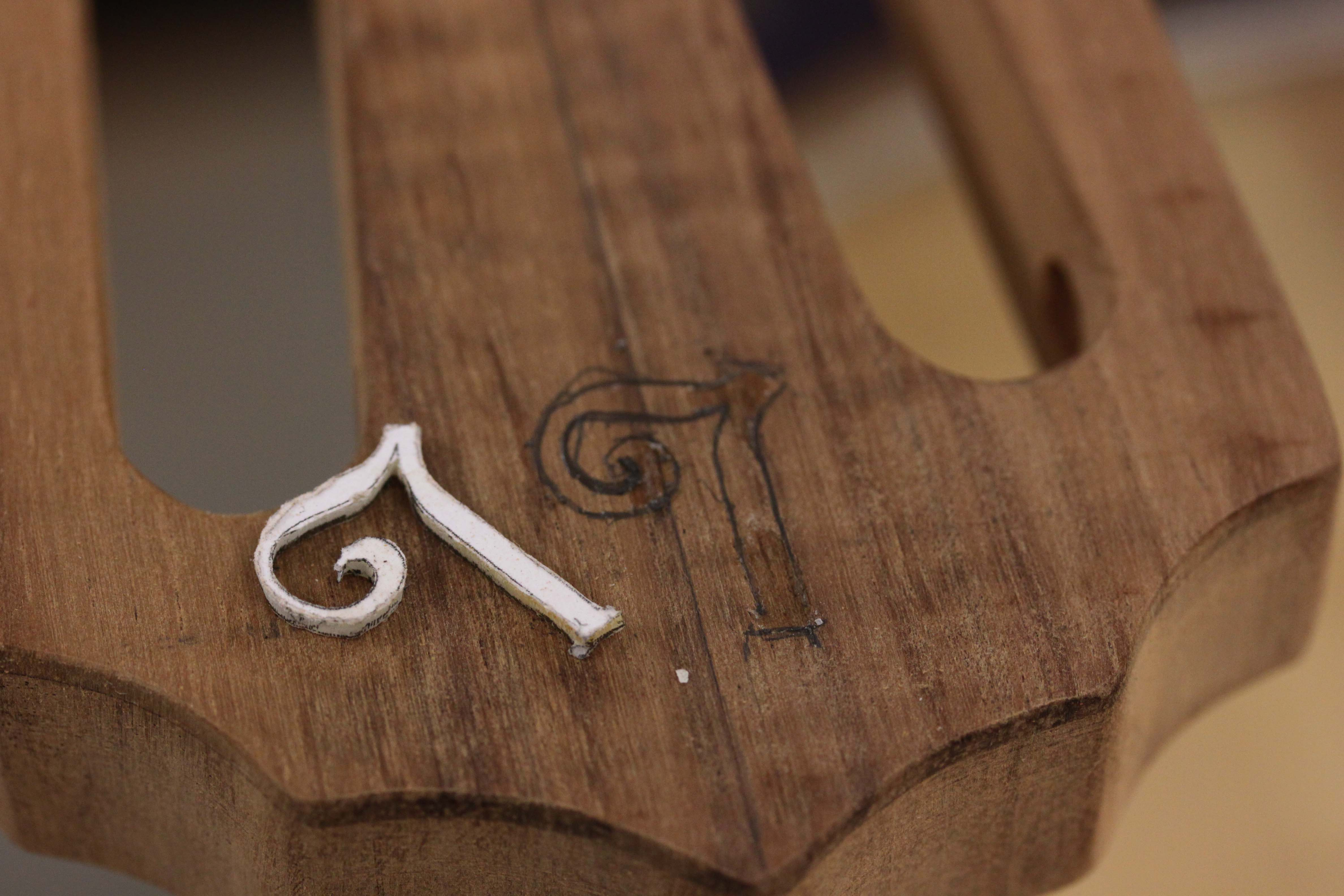 Handcrafted koa parlor guitar - in construction