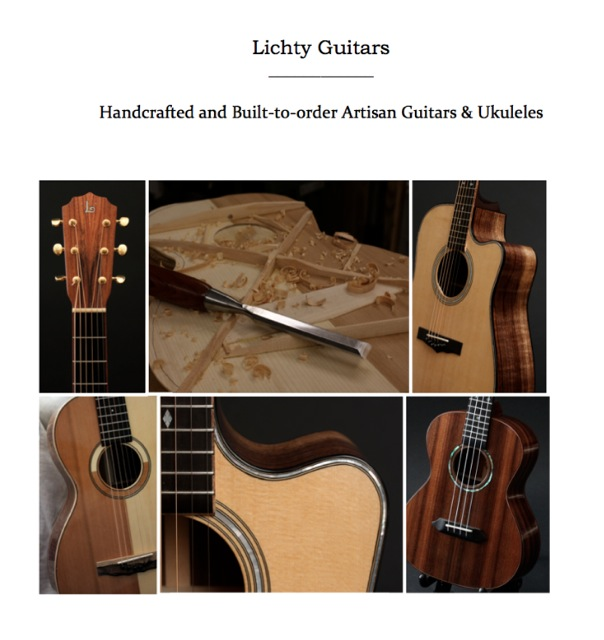 Lichty Guitars Press Kit Cover