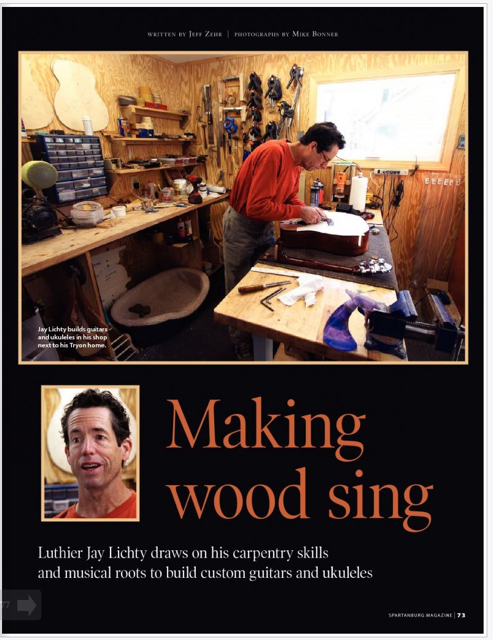 Spartanburg Magazine Lichty Guitars feature