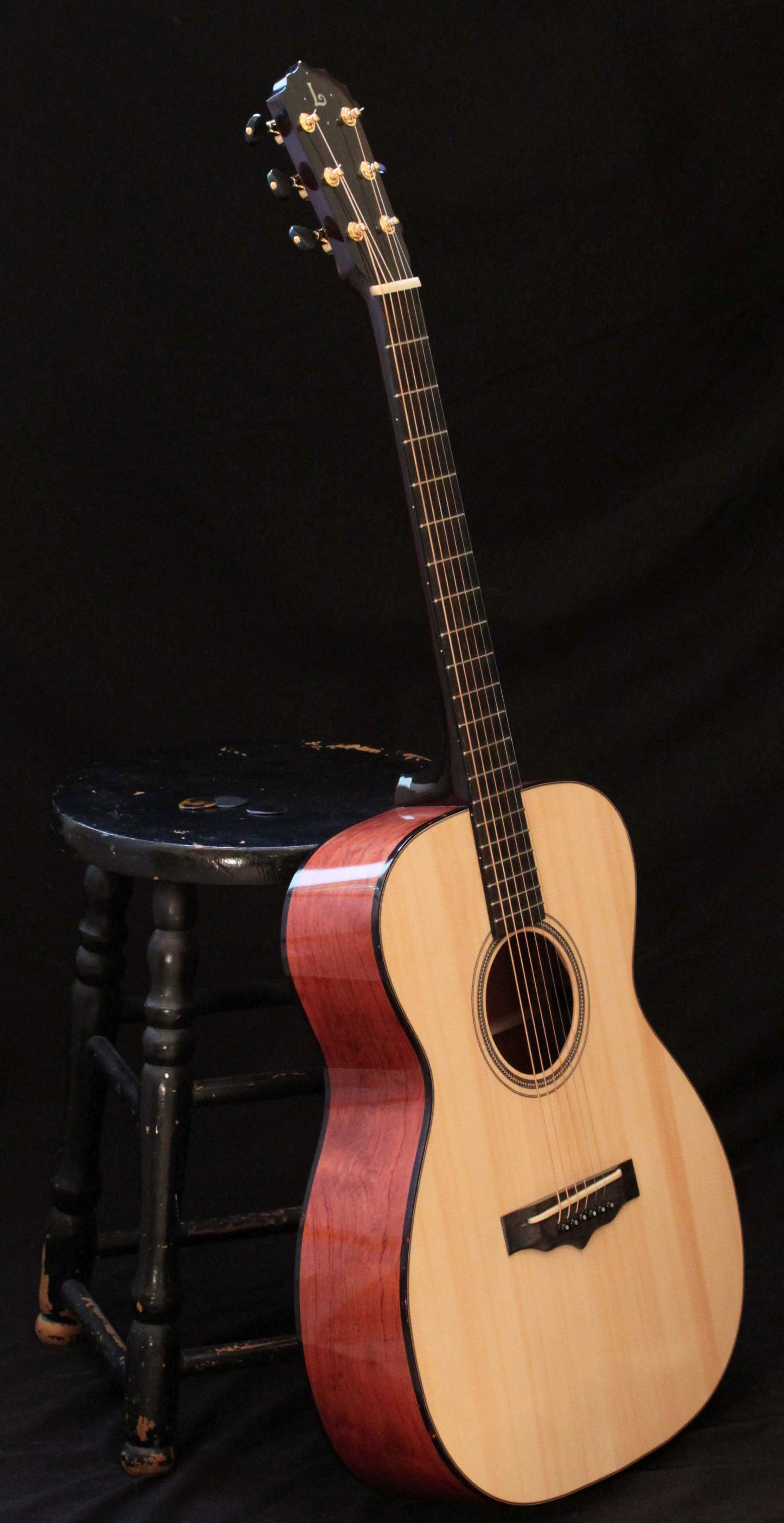 Handmade Bubinga Guitar - win this guitar at www.lichtyguitars.com