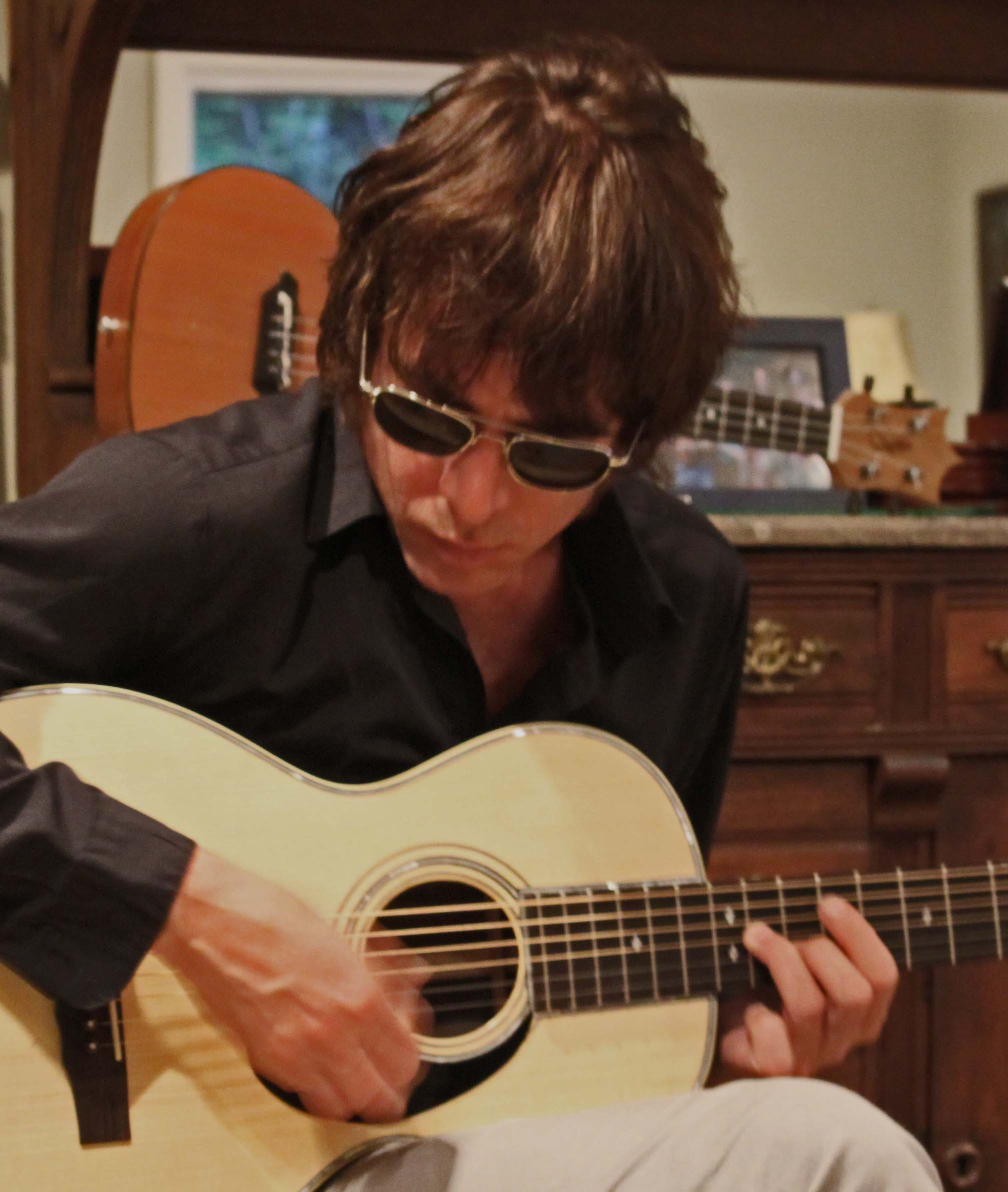 Jody Porter playing a Lichty Guitar - a Handmade Brazilian Rosewood Parlor Guitar by luthier, Jay Lichty