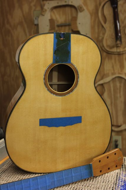 Ancient Kauri Guitar - in curing phase