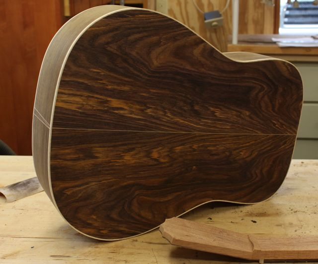 Mike Gossin (Gloriana) custom Lichty Guitar - construction