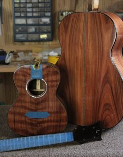 Pau Ferro OM and Brazilian Rosewood Ukulele - construction
