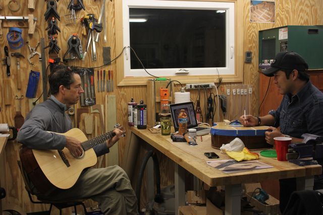 Late night in the shop - Jay Lichty and Clark Hipolito