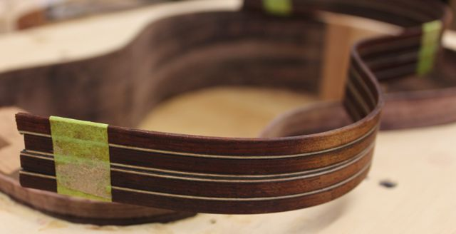 Pau Ferro - Sinker Redwood Tenor Ukulele - construction
