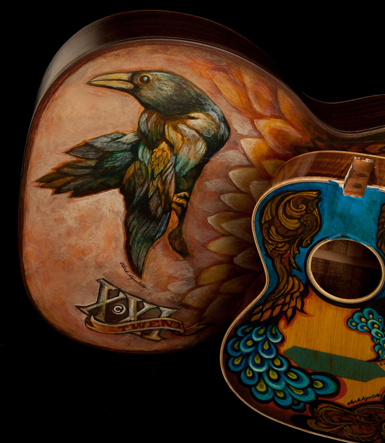 Artwork by Clark Hipolito on custom Lichty Guitars