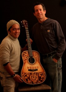 Mike Gossin Custom Acoustic Guitar, Clark Hipolito and Jay Lichty