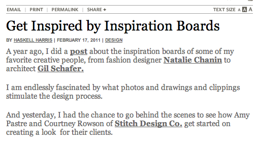 Inspiration Brand Board article by Haskell Harris
