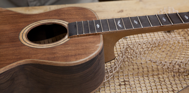 Custom Handcrafted Ukulele - Brazilian Rosewood - construction T16