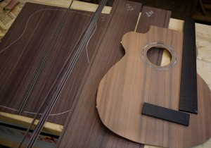 Handmade left handed guitar construction, Lichty Guitars