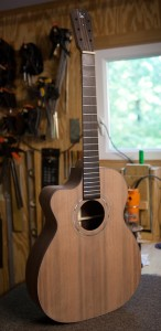 Left Handed Indian Rosewood Guitar - construction