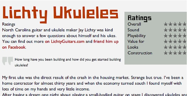 Ukulele Hunt Interview with Jay Lichty