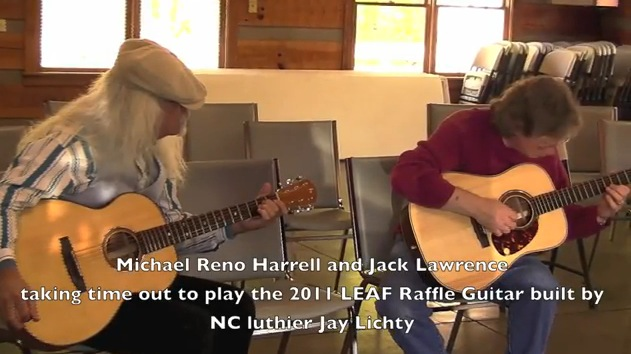 Michael Reno Harrell and Jack Lawrence - Jack's playing the 2011 Raffle Guita