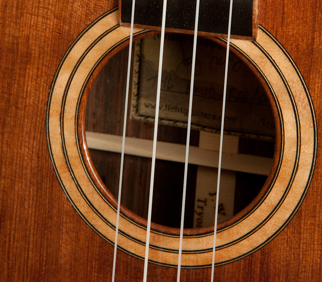 Custom Brazilian Rosewood Curly Redwood Ukulele - T16