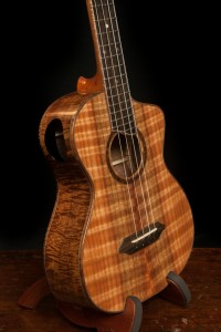 Koa Long Neck Tenor Custom Ukulele, U80