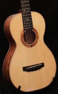 Koa Parlor Guitar, Handmade Acoustic Guitar for sale