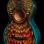 Lichty Handcrafted Guitar Becomes a Canvas