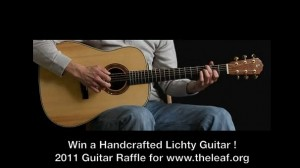 acoustic guitar raffle for leaf