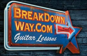 BreakDown Way, online guitar lessons
