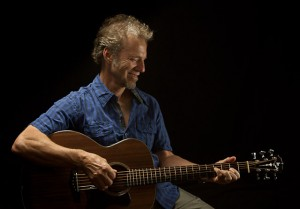 Randall Bramblett and his custom Lichty Guitar