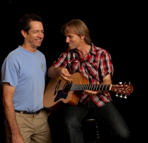 Geoff Achison and luthier Jay Lichty