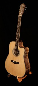 Handmade Acoustic Guitar, Claro Walnut Dreadnought Guitar