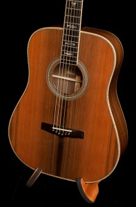 Custom Pau Ferro Dreadnought Guitar with Sinker Redwood top