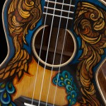 Hand painted tenor ukulele, artwork by Clark Hipolito