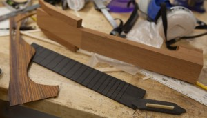 Cocobolo Tenor Ukulele in progress, T21