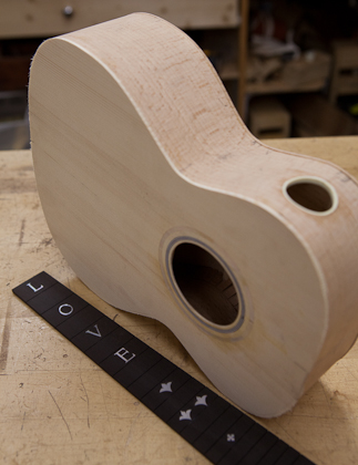 Custom Beech Ukulele Construction, T22