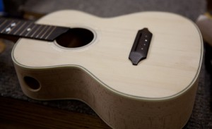 Custom Beech Ukulele construction