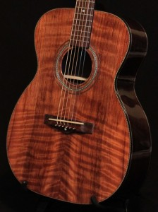 Custom Guitar, Indian Rosewood, Curly Redwood