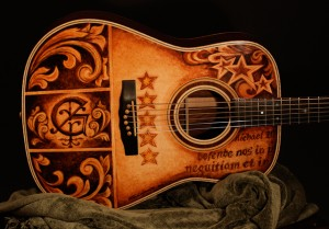 Custom Guitar, hand painted by Clark Hipolito