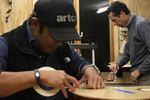 Clark Hipolito at Lichty Guitars' shop