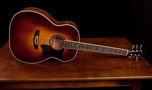 Mahogany Guitar with Sunburst