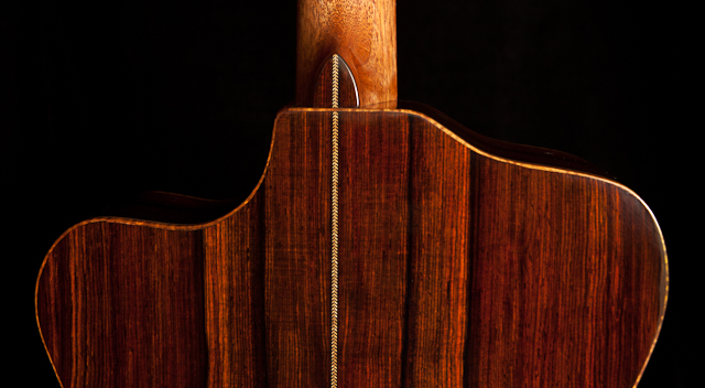NC Guitar Builder, custom cocobolo guitar