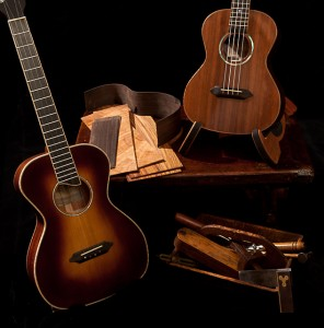 Tenor and Baritone ukuleles