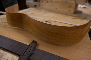 Custom Handmade Acoustic Guitar construction-
