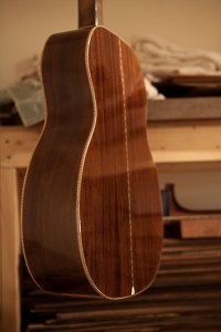 Custom Handmade Acoustic Guitar construction