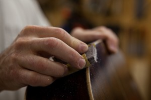 Custom Handmade Acoustic Guitar finishing